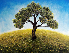 The Tree And Flowers (FarfalleArt) Tags: flower art painting acrylic contemporary originalart