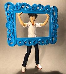 Holding Up the Frame (Sasha's Lab) Tags: kamijo touma 上条 当麻 toaru majutsu no index とある魔術の禁書目録(インデックス teen boy frame figma gsc action figure toy htitft