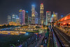 Singapore Financial District (leslie hui) Tags: sonyalpha lighttonightsg marinabay singapore cityscape nightscape buildings singaporefinancialdistrict sonya7rii city marinabaysingapore night