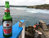 Bintang beer and ocean views (Tanenhaus) Tags: indonesia bali ceningan island mahanapoint surfplace surf point bintang beer bottle
