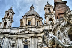 Sant'Agnese in Piazza Navona (M Malinov) Tags: santagnese piazza navona baroque church roma rome italy lazio capital city building architecture art europe eu италия рим столица град европа history historical beautiful
