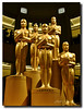 Five Oscar statues at the Dolby Theatre (Elliott Cowand) Tags: theoscarstatue theoscar statue oscar theoscars theacademyawards hollywood california unitedstates tinseltown motionpictures movies elliottcowandyahoocom elliottcowand allrightsreserved copyright gold thedolbytheatre awards theredcarpet hollywoodblvd television broadcast academyofmotionpicturesartsandsciences actors hollywoodboulevard ceremony hollywoodwalkoffame