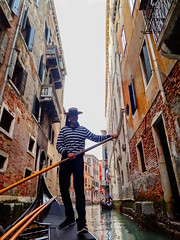 Do Lafzon Ki Hai Dil Ki Kahani near Adriatic Sea (Onlyshilpi) Tags: venice gondola canals water boat europe boatman