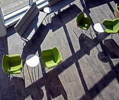 Green Chairs and Shadows (WhiPix) Tags: 1418 bccc buckscounty college chair light shadow