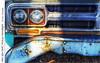 Mid 60's GMC Pickup Headlight (jwvraets) Tags: hdr tonemapped truck pickuptruck gmc generalmotorscorporation headlight grill rust rustyandcrusty bumper derelict opensource luminance rawtherapee gimp nikon d7100 nikkor50mmf18d