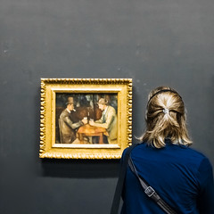 Observando la Partida (Manuel Gayoso) Tags: museodeorsay paris francia cezanne jouersdecartes mujer espalda rubia