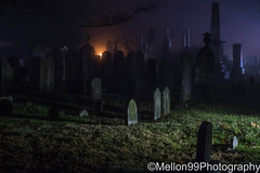 Eerie Night (Mellon 99) Tags: mellon99photography morning mornings mist fog foggy davemellon delaware night nightlights graves cemetery