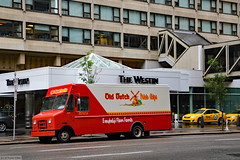 Someone at the hotel wants lots of chips (Canadian Pacific) Tags: calgary downtown city centre center alberta canada canadian 2017aimg0503 olddutch potato chips delivery truck box van the westin hotel 320 4 avenue ave sw foods 4th