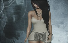 In the Dark (tarja.haven) Tags: addams slipperoriginals rm outfit meshtop meshshort meshhair bentohair jewellery meshring avatare sl secondlife pixelart photo photography