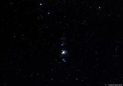 Orion Nebula - M42 (AstroBeard) Tags: astro astrophotography astronomy stars space skyatnight night sky constellation orion nebula flame portland dorset belt sword canon deep stacker m42 ngc2024 ngc 2024 stack rigel astrometrydotnet:id=nova2406196 astrometrydotnet:status=solved