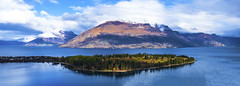 View of Lake Wakatipu- Queenstown, NZ (Flortography) Tags: queenstown newzealand outdoors landscape sky mountain mountains hillside clouds winter view destination travel professionalphotography kiwi land nature lumix panorama