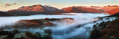 Langdale Valley Mists (Dave Massey Photography) Tags: langdale loughriggfell cloudinversion mist lakedistrict cumbria panorama scenic landscape