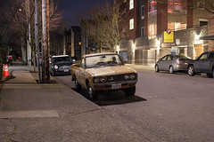 Datsun Pickup Truck (Curtis Gregory Perry) Tags: portland oregon datsun pickup truck 620 night long exposure 1972 1973 1974 1975 1976 1977 1978 1979 old classic southeast pdx nikon d810