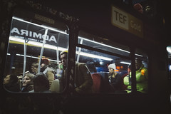 (Ross Magrath) Tags: streetphotography dark bus movement phone busy street night gr people candid brighton uk england