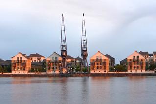 Wohnhäuser des Britannia Village am Royal Victoria Dock