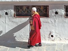 Autour du stupa de Bodnath à Katmandou