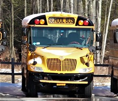 First Student #828 (ThoseGuys119) Tags: firststudentinc schoolbus pinebushny thomasbuilt dslr canon eos77d winter sunlight beautiful snow