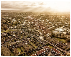 Knutsford in the morning (jiddster) Tags: knutsford booths supermarket kite town cheshire uk mist sunlight gold