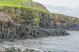 Columnar Basalt  in Froðba, Faroe Islands