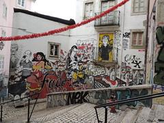 DSCN8994 (Eniram Cerf) Tags: fado tag graffiti art rue expression populaire couleurs rojo portugal lisbonne dessin europe