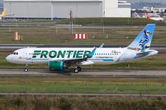 F-WWDX (@Eurospot) Tags: fwwdx n326fr airbus a320 neo frontier toulouse blagnac