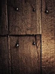 Nails (J.C. Moyer) Tags: floor oak oakfloorboards oakboards colour color rustic gothic dark wood nails oakfloor motorolamotog4plus