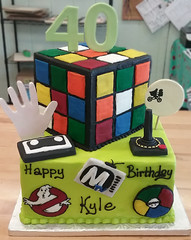 toys (backhomebakerytx) Tags: cake birthday 40th et ghostbusters rubiks cube cassette backhomebakery 80s