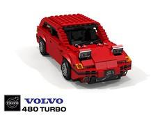 Volvo 480 Coupe (lego911) Tags: volvo 480 coupe turbo 1990s 1991 auto car moc model miniland lego lego911 ldd render cad povray sweden swedish hatch hatchback