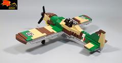 Fiat G.55 Centaur rear view (Eínon) Tags: lego fiat g55 fighter interceptor warthunder war thunder world two italy italian air force