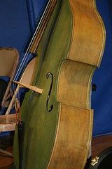Green Bass (eyriel) Tags: instrument string stringed strings side sideview musical