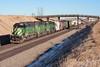 BNSF 7037 Hawley 13 Dec 06 (AK Ween) Tags: bnsf bnsf7037 bnsf8035 bnsf7208 emd sd402 hawley minnesota staplessub cascadegreen train railroad