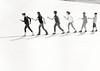 Walk the Line (volker__l) Tags: blackandwhite bw mamiya mamiya645 naumann münster skulptur square depression acros rodinal analog analogue adox mcp