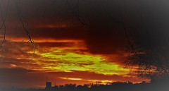 """"""" Both Sides, Now """" (hope2029) Tags: sunset red skies clouds orange armley leeds west yorkshire"""