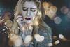 Dying lights (Megan Glc Photographe) Tags: lights bokeh blue portrait selfportrait girl sad surreal sweet fantasy magical inside garland
