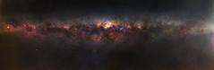 Horizon to Horizon Milky Way - Herron Point, Western Australia (inefekt69) Tags: herron point mandurah hoya filter panorama stitched mosaic msice milky way cosmology southernhemisphere cosmos southern westernaustralia australia dslr longexposure rural nightphotography nikon stars astronomy space galaxy astrophotography outdoor milkyway core great rift ancient sky 50mm d5500 night hoyaredintensifier carina nebula explore explored astrometrydotnet:id=nova2439509 astrometrydotnet:status=solved