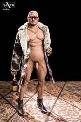 DILF (Sixth Pictorial) Tags: dilf daddy bara muscle muscular sixthscale 16scale furcoat gold necklace pecs beergut markhunt brut champagne sunglasses nude photography phicen bigdick flaccid softcore pictorial erotica homoerotic gay losangeles colorphotography