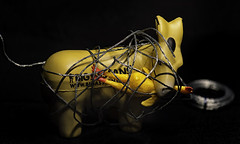 2018_01_28_entanglement _DP78780 20180128-78780 (dpowersdoc) Tags: donkey chicken toys wire picturewire tangled tied macro ass entanglement attracton