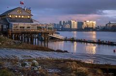 January Blues (Clayton Perry Photoworks) Tags: vancouver bc canada richmond explorebc explorecanada winter flyingbeaverbargrill harbourair reflections