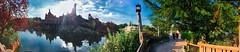 Big Thunder Mountain - Disneyland Paris (woto) Tags: eurodisney montañarusa panorama panoramic lake lago reflejos hdr cielo sky