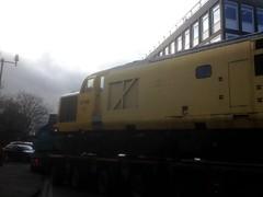 37 198 (58 023 'Peterborough Depot') Tags: britishrailways britishtraction unitedkingdom derby derbyrtc class37 tractor type3 networkrail 37198 lorry
