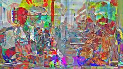 Zwiegespraech 11g im Buero (wos---art) Tags: bildschichten zwiegespräche dialog kommunikation auseinandersetzung beziehung gespräch unterhaltung gott god begegnung meeting