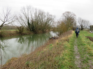 UK - Bedfordshire - Near Willington - Walking along Ouse Valley Way