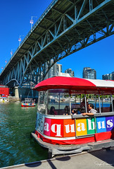 The Vancouver Aquabus - False Creek (SonjaPetersonPh♡tography) Tags: vancouver bc britishcolumbia burrardinlet burrardstreetbridge cambiestreetbridge granvilleisland granvilleislandmarina granvillestreetbridge granvilleislandpublicmarket canada nikon nikond5200 inlet ocean boating scienceworld aquabus falsecreek falsecreekferries bcplacestadium waterscape cityscape vancouverskyline vancouverharbour downtownvancouver thevancouveaquabus