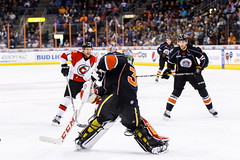 "Kansas City Mavericks vs. Cincinnati Cyclones, February 3, 2018, Silverstein Eye Centers Arena, Independence, Missouri.  Photo: © John Howe / Howe Creative Photography, all rights reserved 2018. • <a style=""font-size:0.8em;"" href=""http://www.flickr.com/photos/134016632@N02/40086497442/"" target=""_blank"">View on Flickr</a>"