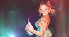 what it is (jaimelapoutine) Tags: portrait secondlife sl woman female avatar lyrics song depression bleach weird cureless weirdgirl forrose stories mint materials randommatter