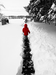 Le petit trappeur !!! (François Tomasi) Tags: snow red rouge trappeur yahoo google flickr justedutalent françoistomasi tomasiphotography