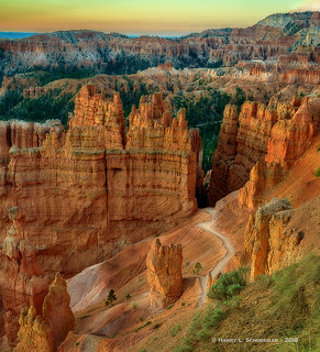 Cold Sunrise In Bryce Canyon