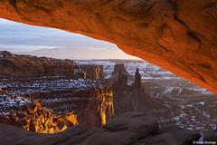 Arch Frame (isaac.borrego) Tags: snow desert moab utah canonrebelt4i arch canyonlands nationalpark