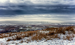 The Windmills Of My Mind (Missy Jussy) Tags: winter snow windmills windfarm landscape lancashire land fields view fixedfocallength primelens rochdale blackstoneedge clouds sky canon canon5dmarkll 50mm ef50mmf18ll canon50mm fantastic50mm outdoor outside