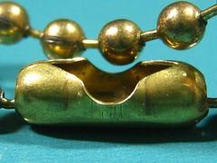 beaded ball chain (muffett68 ☺ heidi ☺) Tags: macromondays fasteners beaded chain ballandchain